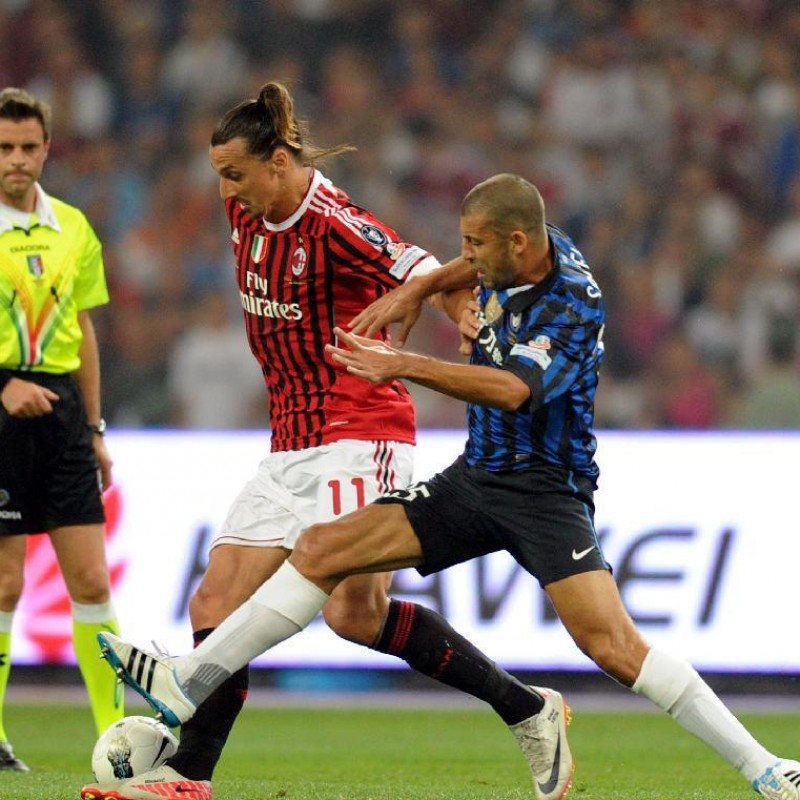 Ibrahimovic's Match-Issued/Worn Milan Shirt, 2011 TIM Super Cup