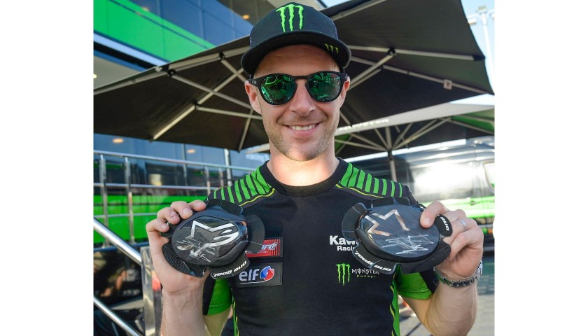 Knee Sliders Worn and Signed by Jonathan Rea at Portimao