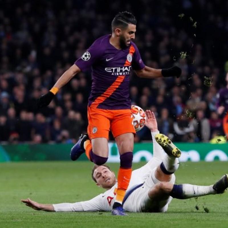 Mahrez's Manchester City Match Shorts, Champions League 2018/19