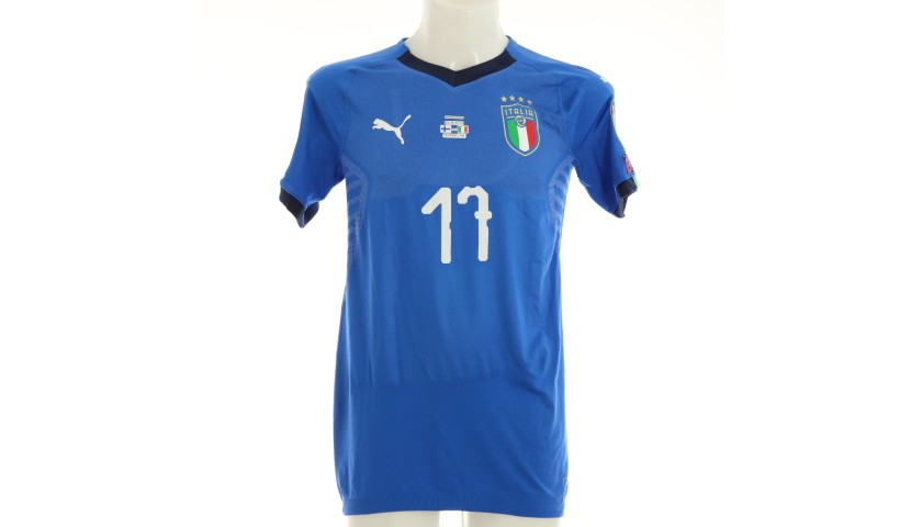 Immobile's Match Shirt, Finland-Italy 2019
