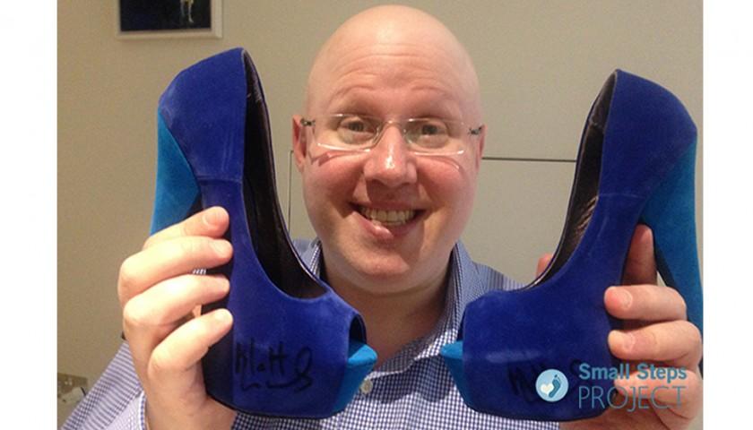 Matt Lucas Signed Shoes