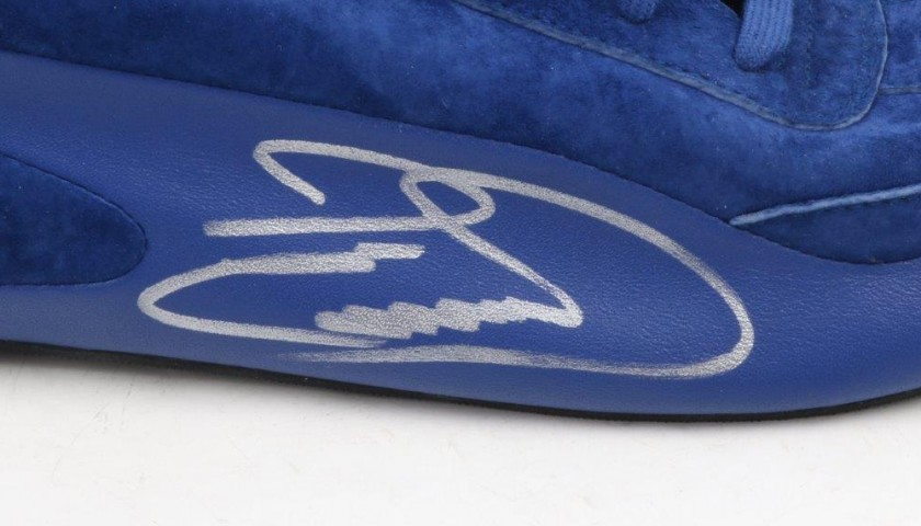 F1 Driver David Coulthard's Worn and Signed Boots