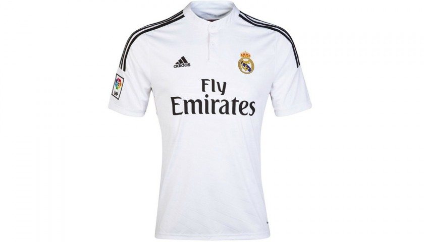half off 45e1b b940e James' Official Real Madrid Signed Shirt, 2014/15 - CharityStars