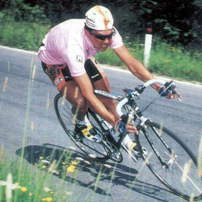 Pink Jersey Signed by Pavel Tonkov - Giro d'Italia 1996