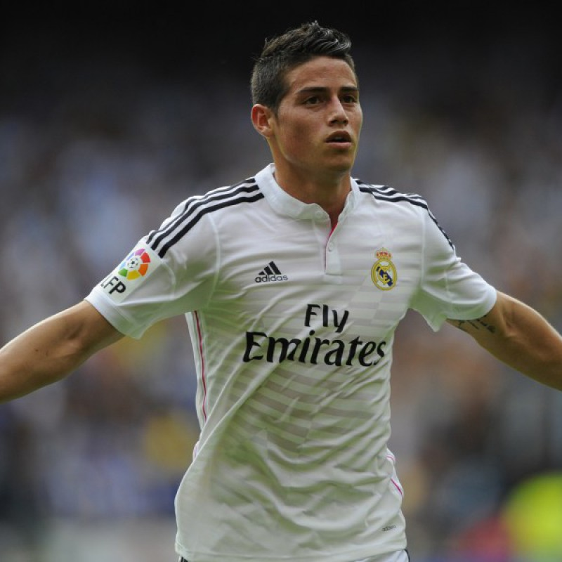 James' Official Real Madrid Signed Shirt, 2014/15