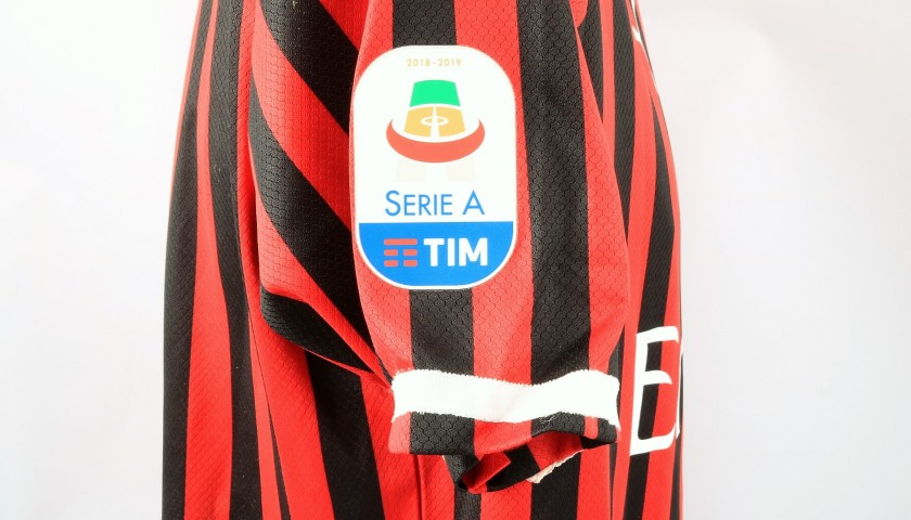 Calhanoglu's Worn and Signed Shirt, Milan-Frosinone 2019