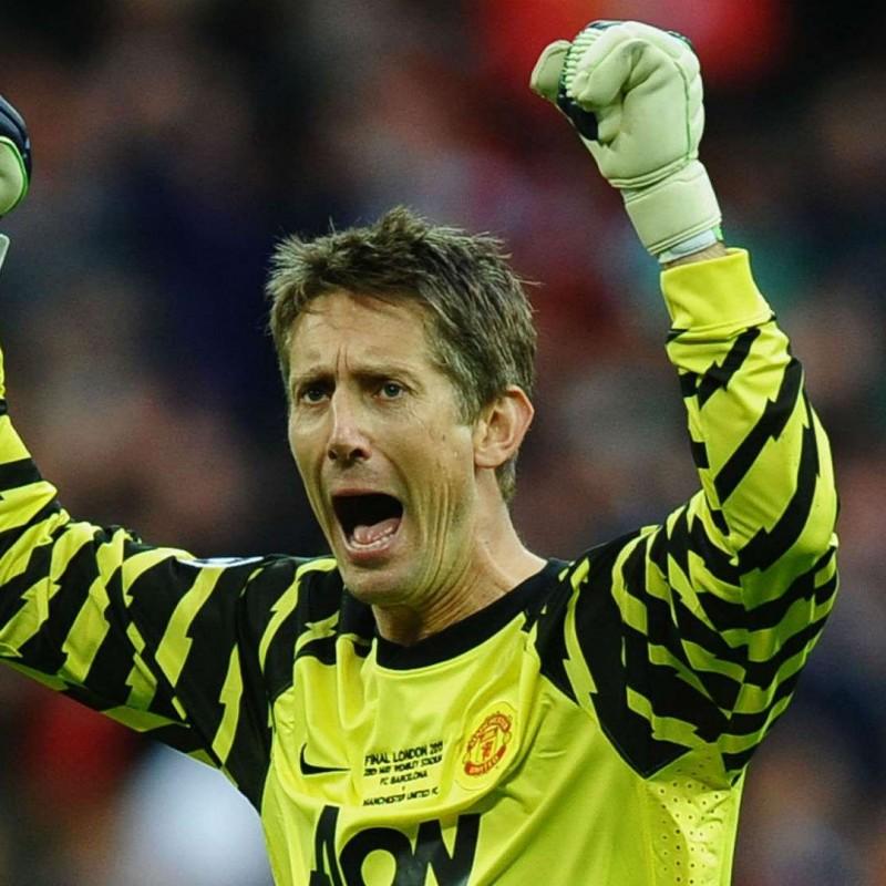 Van der Sar's Official Man Utd Signed Shirt, 2010/11