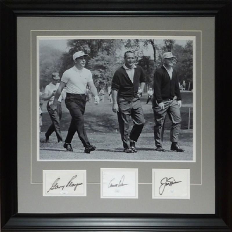 Jack Nicklaus, Arnold Palmer, Gary Player Signed Framed Piece