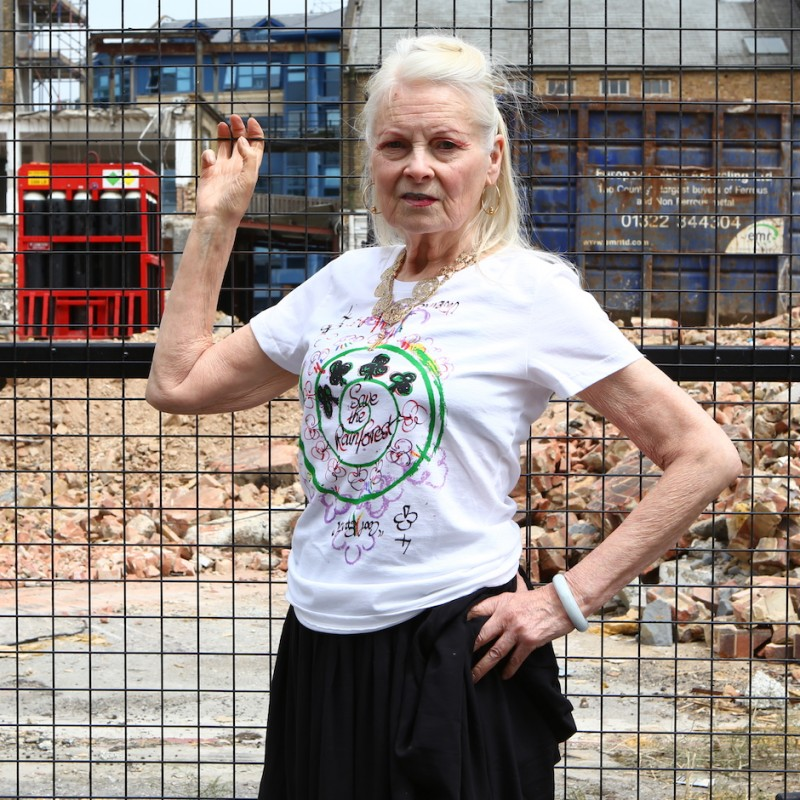"Vivienne Westwood's ""Save the Rainforest"" T-Shirt"