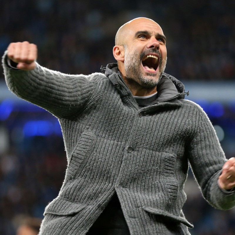 Receive Pep Guardiola's Iconic Hooded Cardigan