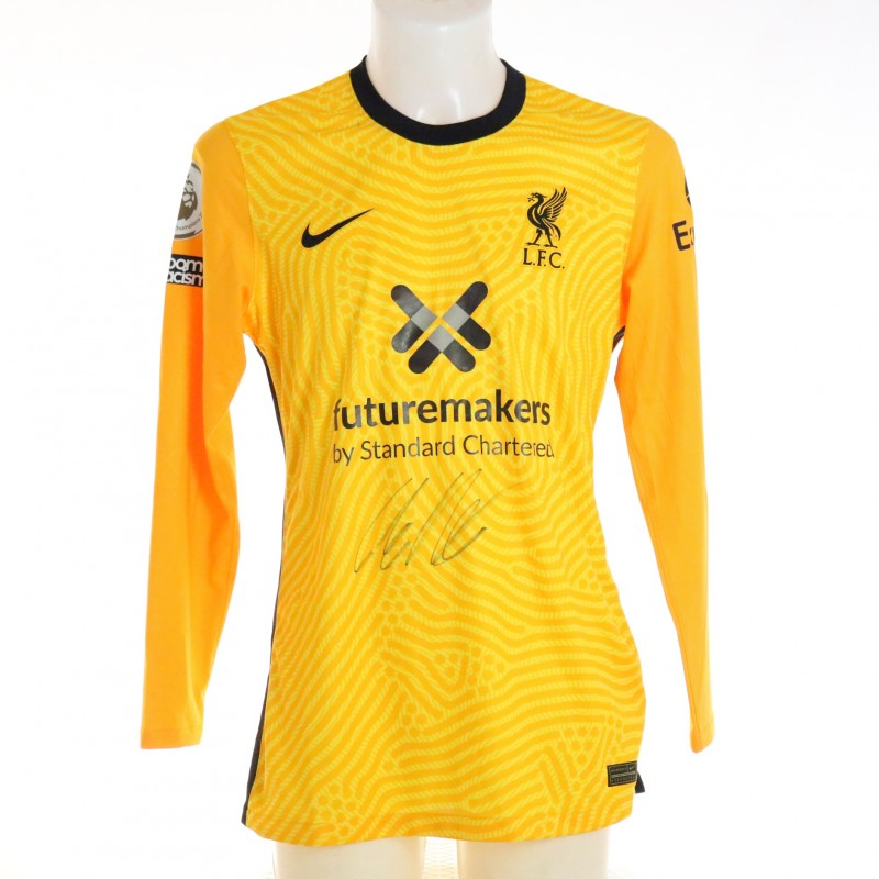 Kelleher's Liverpool FC Match-Issued and Signed Shirt, Limited Edition 20/21