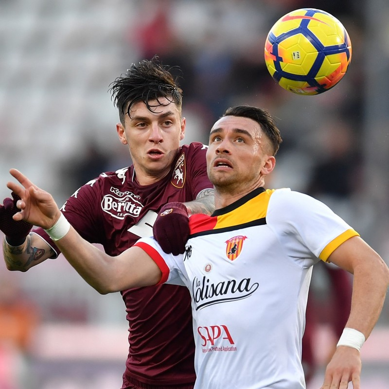 Baselli's Match-Issued Torino-Benevento Shirt with Special Patch