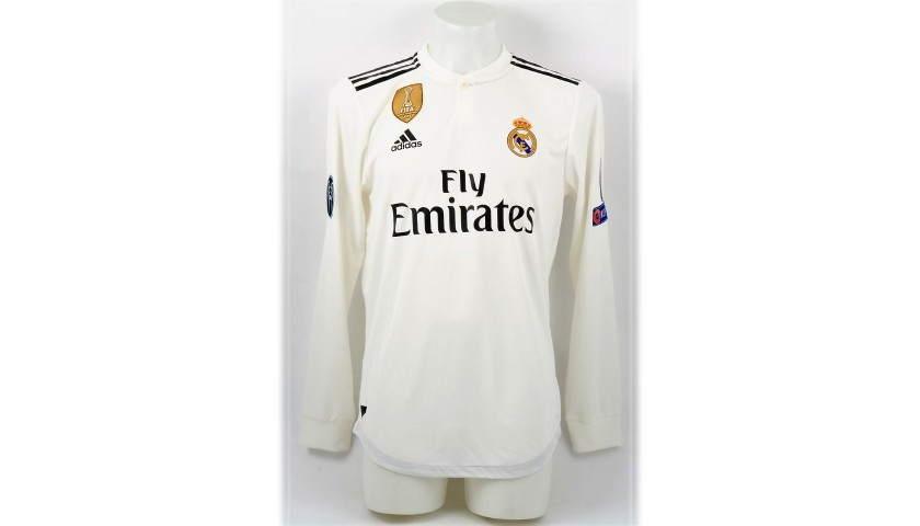 timeless design 68c4c 813fa Sergio Ramos' Real Madrid Match Shirt, UCL 2018/19 - CharityStars