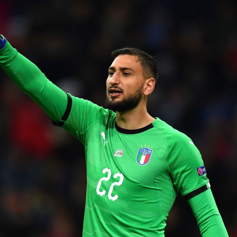 Donnarumma's Italy Match Shirt, 2018 Season