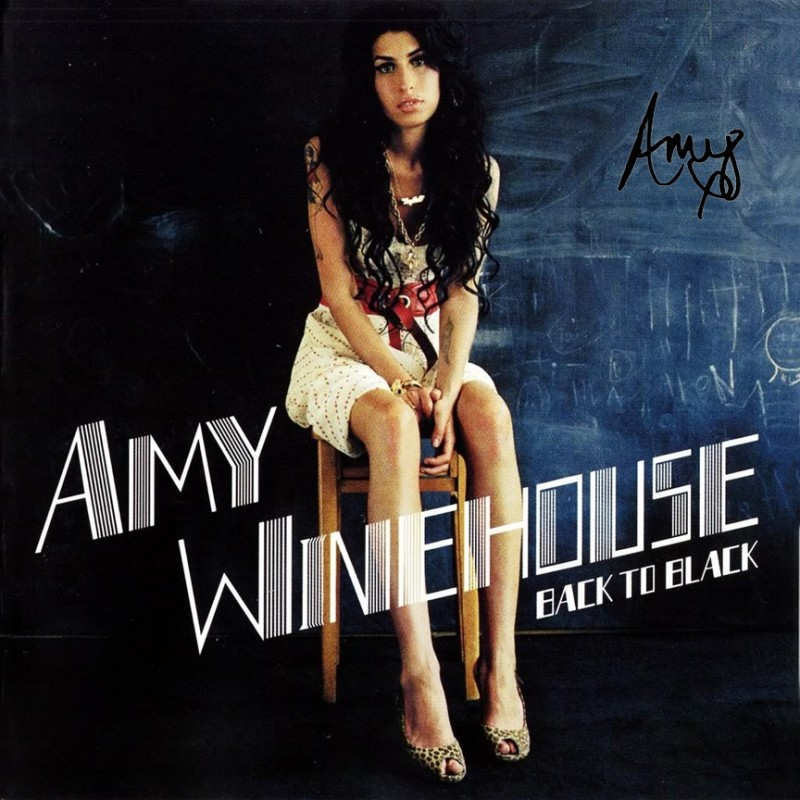 Amy Winehouse Album with Printed Signature