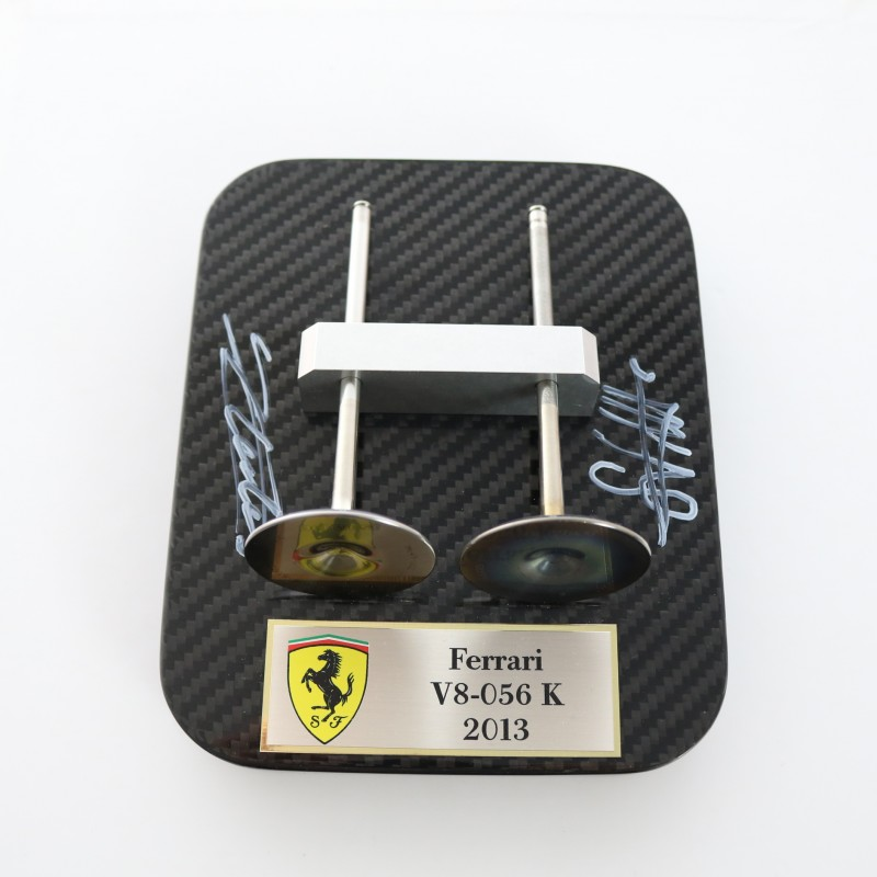 Engine V8 -056k from F138 Vehicle - Signed by Vettel and Leclerc