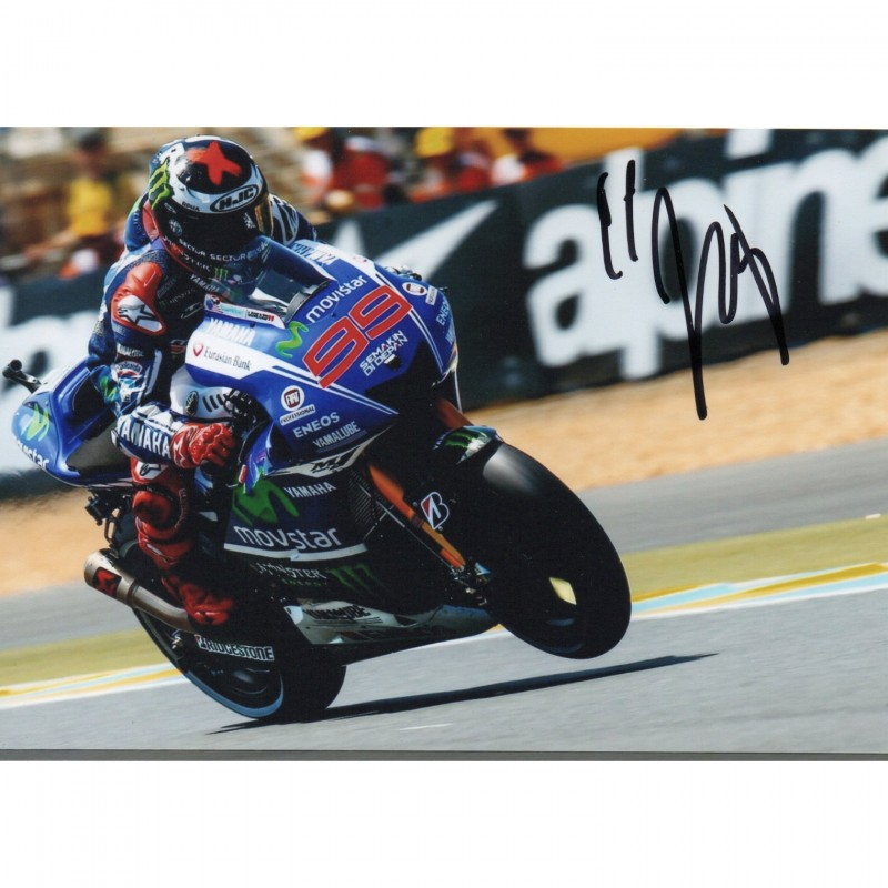 Photograph Signed by Jorge Lorenzo