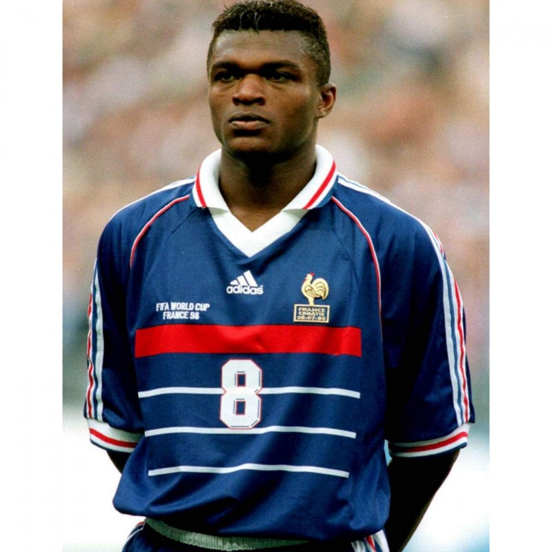France 1998 Replica Shirt Signed by Marcel Desailly