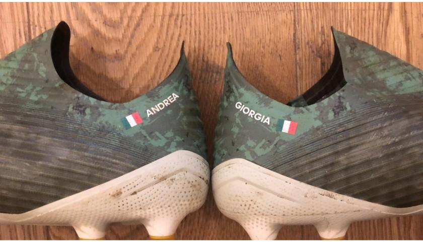 Adidas Boots Worn by Andrea Belotti - CharityStars