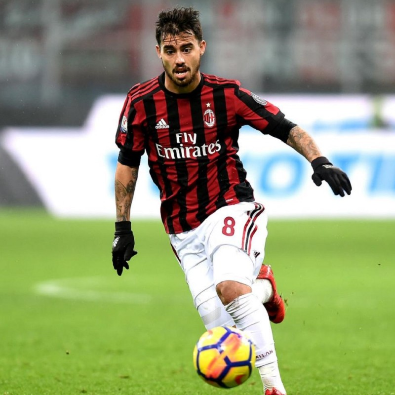 Suso's Milan Match Shirt, TIM Cup 2017/18