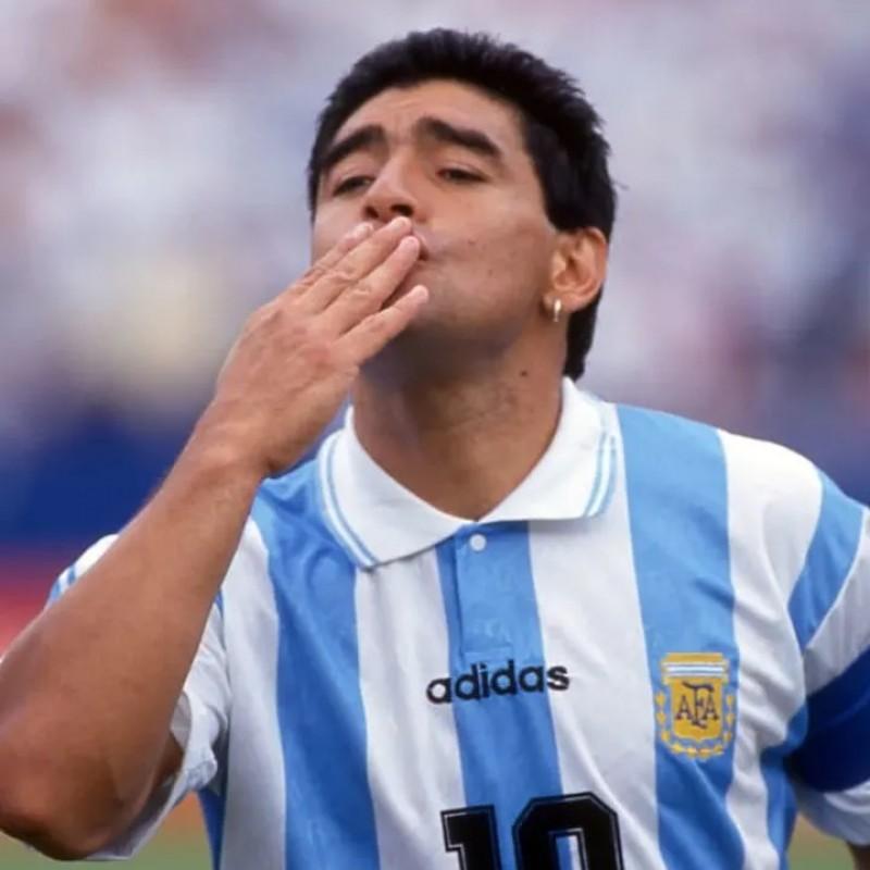 Maradona's Argentina Signed Match Shirt, 1994