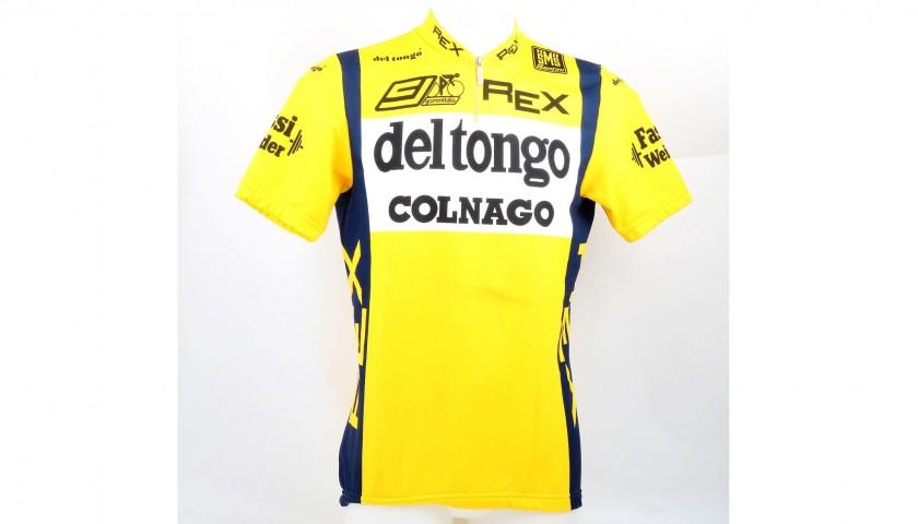 Giuseppe Saronni s Del Tongo - Colnago Worn Cycling Shirt ... 289cd72b3