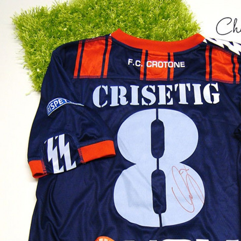 Crotone match issued shirt, Crisetig, Serie B 2013/2014 - signed