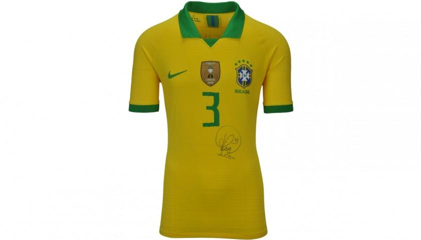 Thiago Silva's Brazil Signed Match Shirt, 2020
