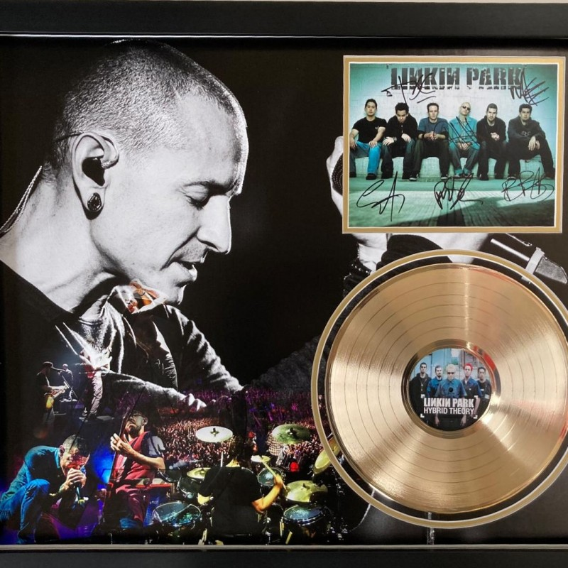 Linkin Park Signed and Framed Photo And Gold Disc Display