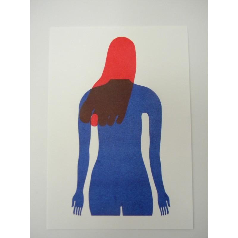 """Indifesa"" Risograph Print by Guido Scarabottolo"