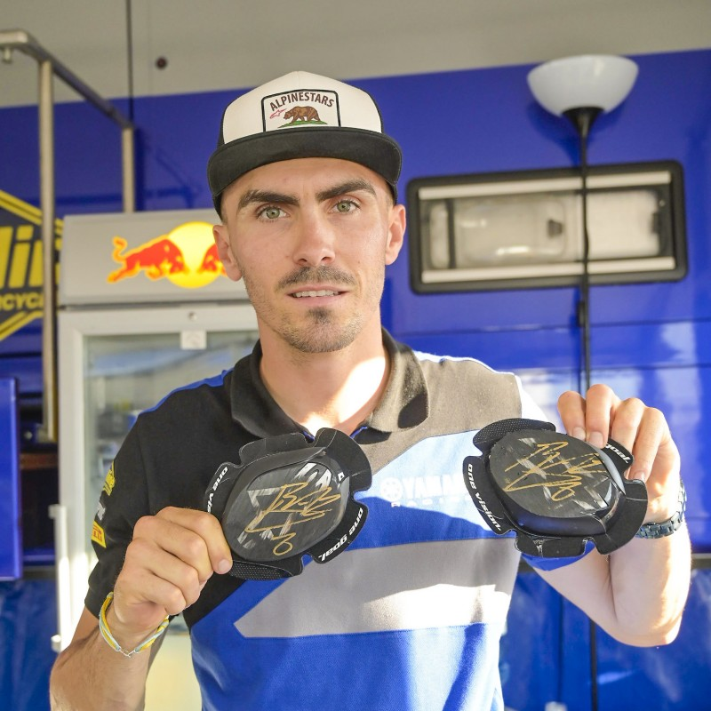 Knee Sliders Worn and Signed by Loris Baz at Portimao