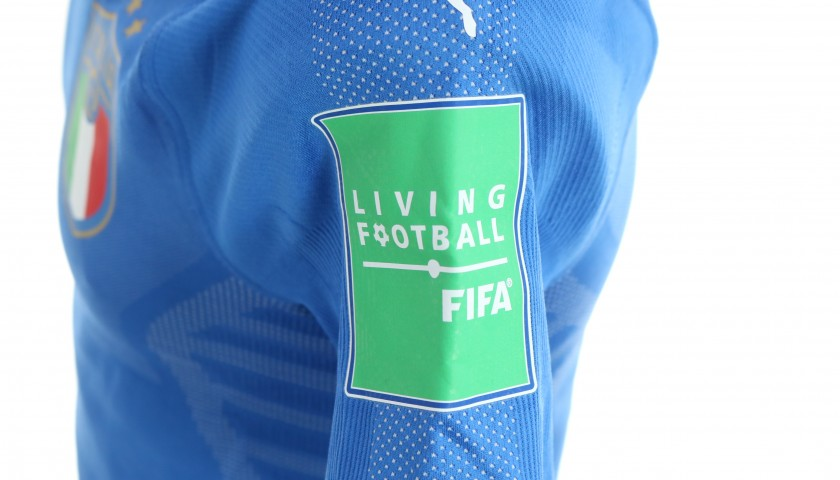 Pinamonti's Italy Match Shirt, U-20 World Cup 2019