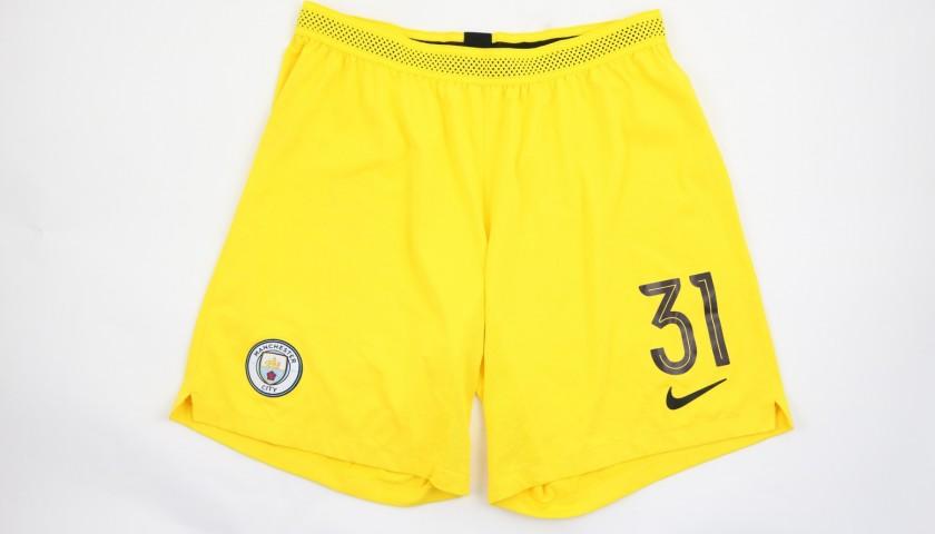 Ederson's Manchester City Match Shorts, Champions League 2018/19