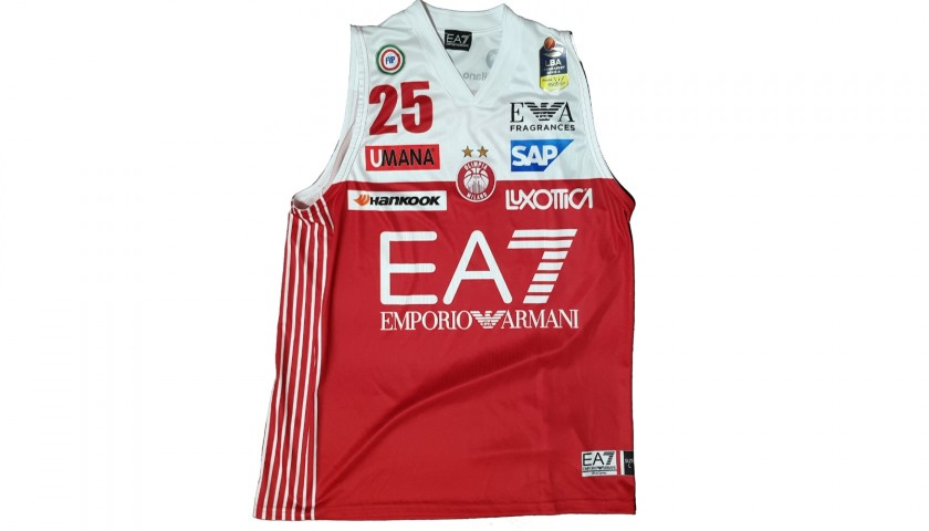 Theodore s Olimpia Milano Worn and Signed Basketball Vest ... ae847c1d643f