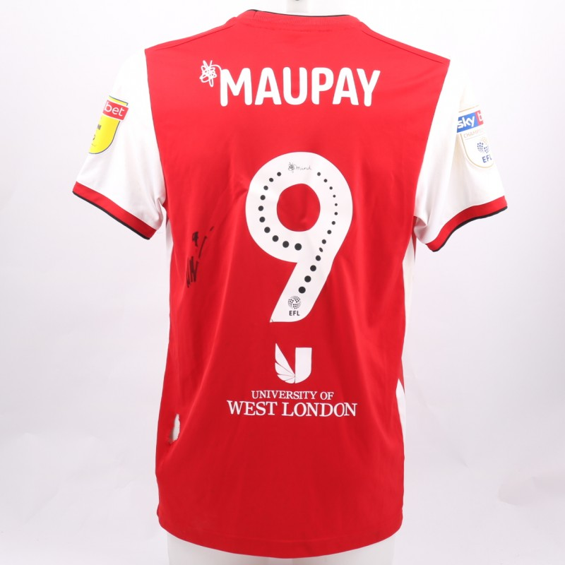 Maupay's Brentford Worn and Signed Poppy Shirt
