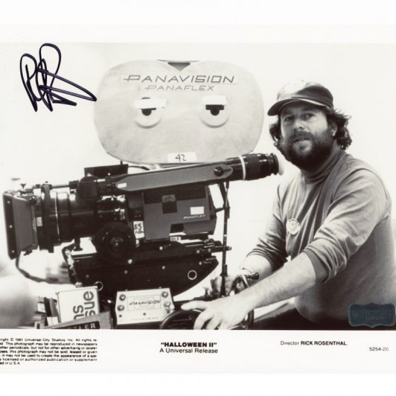 Rick Rosenthal Signed Halloween 2 Photo with Camera