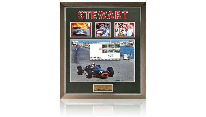 Jackie Stewart Hand Signed Formula 1 FDC F1 Photo