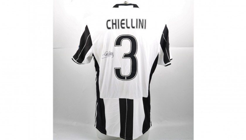 Signed Official Chiellini Juventus Shirt,  2016/17