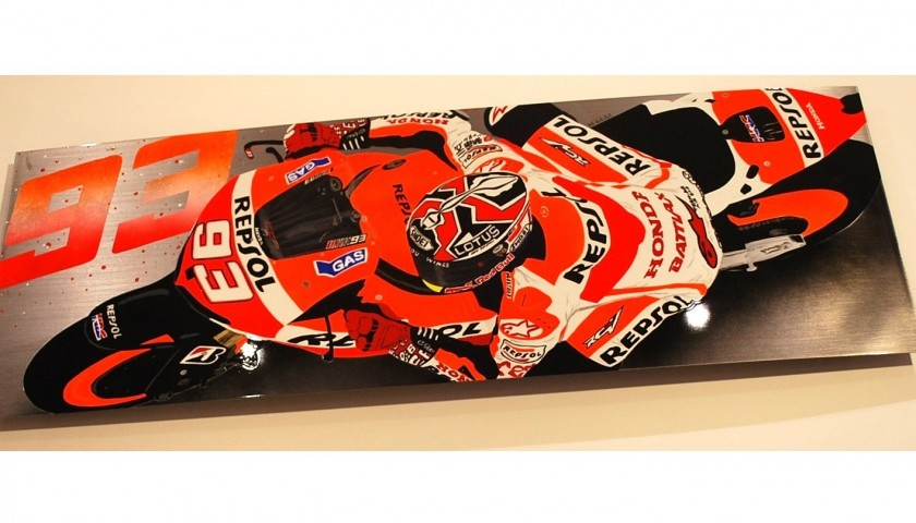 Marc Marquez Original Steel Artwork