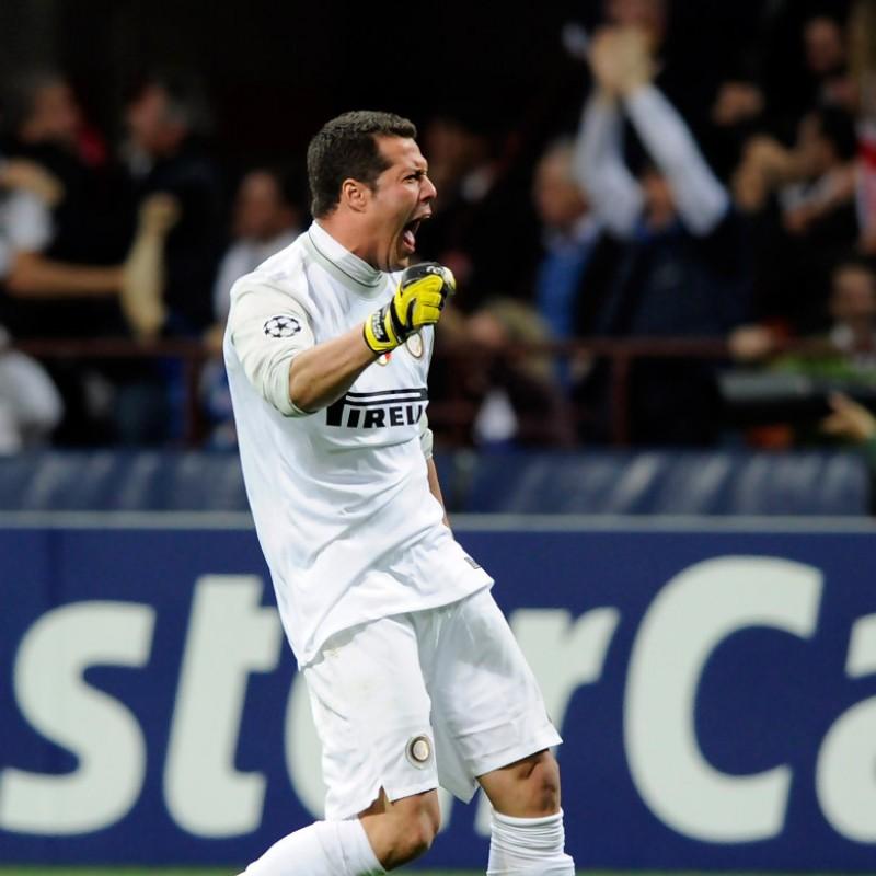 Julio Cesar's Match-Worn UCL 2009/10 Inter Shirt, UNWASHED