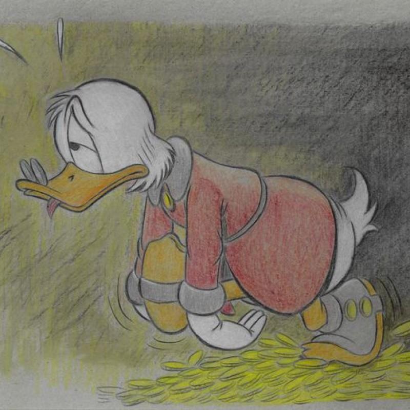 Original Scrooge McDuck Drawing by José María Millet López