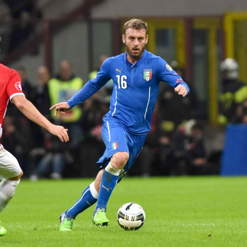 De Rossi's Italy Match Shirt, Euro 2016 Qualifiers
