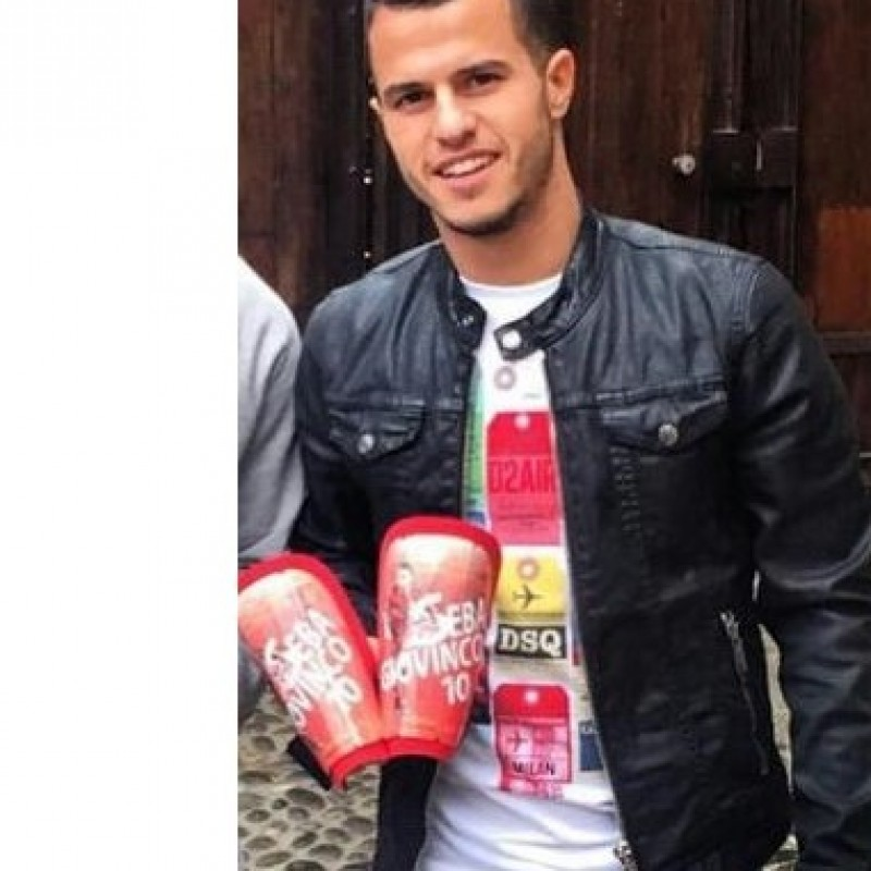 Giovinco personalized shinguads, issued/worn MLS 2015/2016