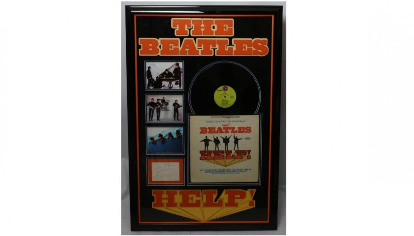 "Framed ""Help!"" Album Signed by The Beatles"