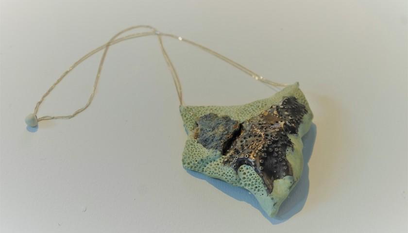 Silver and Epoxy Resin Pendant by Daniella Saraya