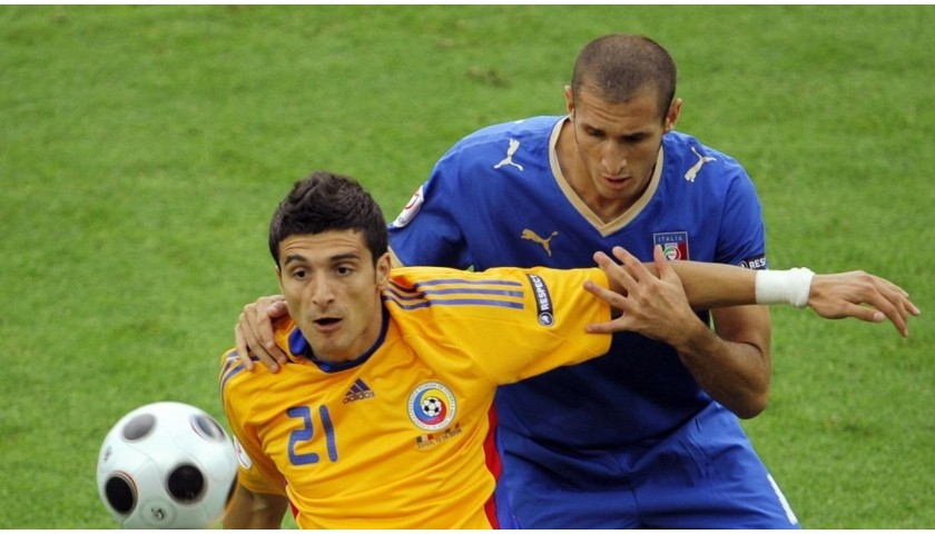 Chiellini's Italy Signed Match Shirt, Euro 2008