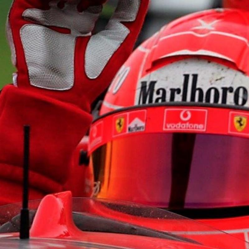 Michael Schumacher Ferrari 2004 Schuberth RF1 Race Visor