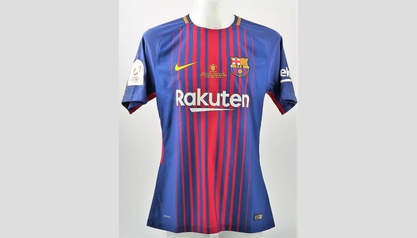 timeless design 5cd79 59f09 Messi's Barcelona Match-Issue Shirt,Copa del Rey Final 2018 - CharityStars