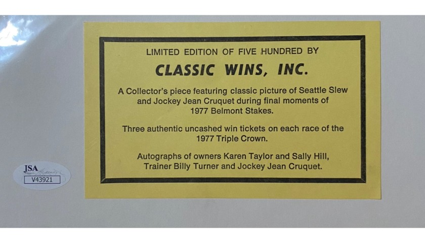 Seattle Slew Collectors Display