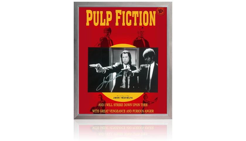 John Travolta Hand Signed 'Pulp Fiction' Movie Poster Presentation